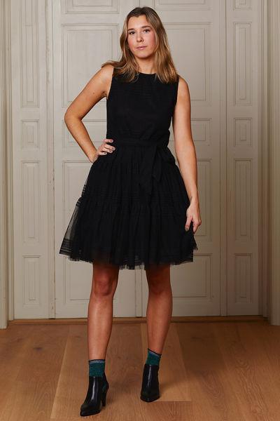 Tulle neroli dress Sort