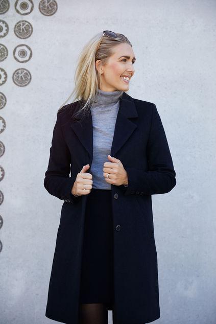 Sasja Wool Coat Sort
