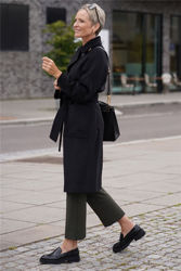 Anneline Wool Coat Sort