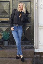 Jeans belt Sort