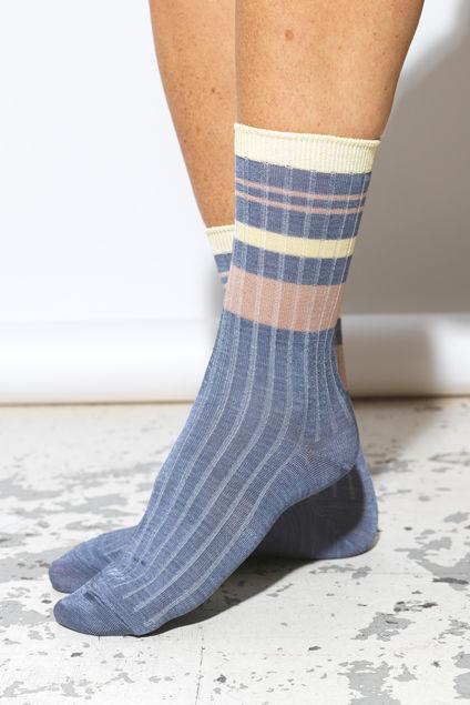 Sporty Rainbird Sock Blå