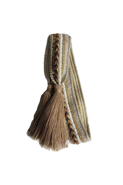 Belt knit tassle Taupe