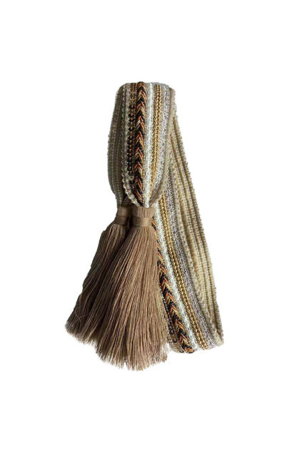 Belt knit tassle Taupe