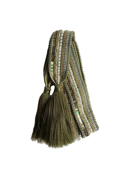 Belt knit tassle Army