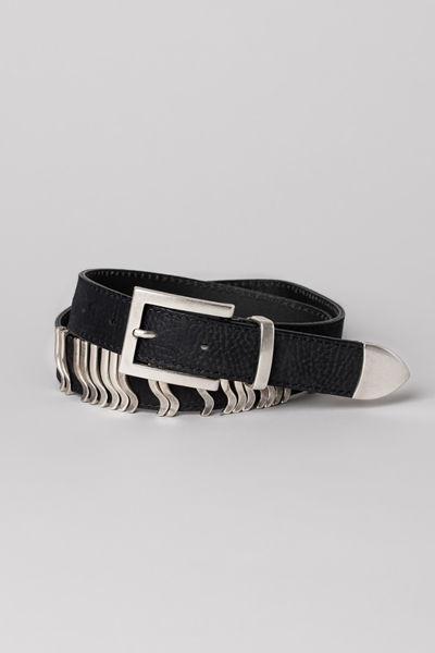 Rattle Belt Sort m/sølv