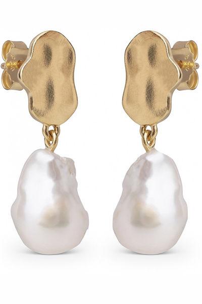 Earring Alua Gull m/ perler