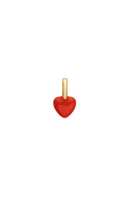 Heart Charm Rød