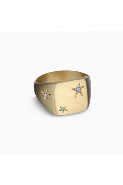 Star Signet Ring Gull