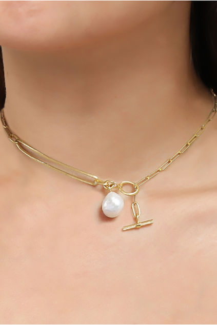 Salon Pearl Necklace Gull