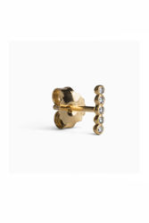 Ball Row Earring With Diamonds Gull