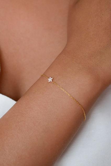 Bracelet Fleur Gull