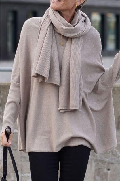 Anja Scarf Camel melange