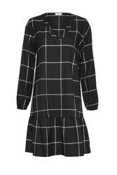 Abena Lexie LS Dress Black Check