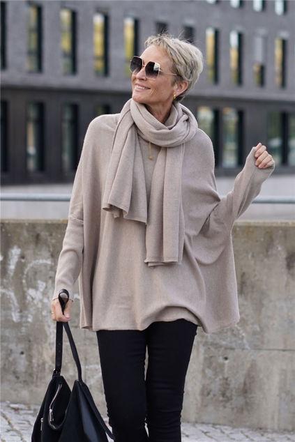 Simonetta Top Camel melange