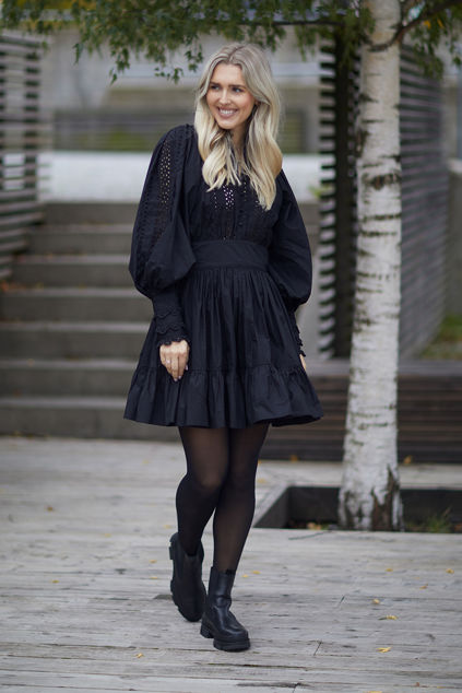 Broderie Anglaise Mini Dress Sort