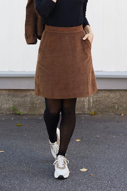 Corduroy Mini Skirt Chocolate