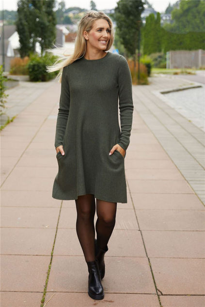 Cecilie Merino Dress Grønn
