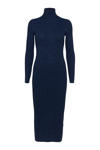 Chelsea LS Knit Dress Marineblå
