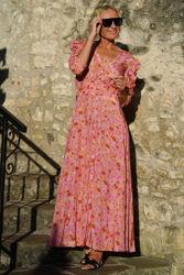 Delicate Maxi Dress Rosa Blomstret