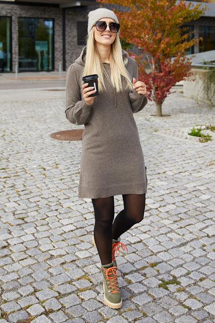 Alma Wool Dress Brun