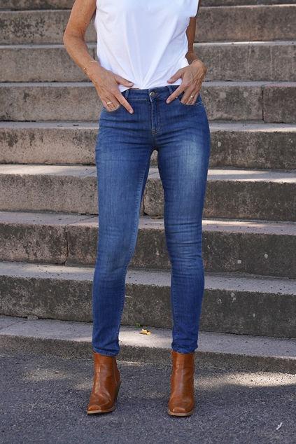 Diva Skinny Swan Jeans Jeansblå