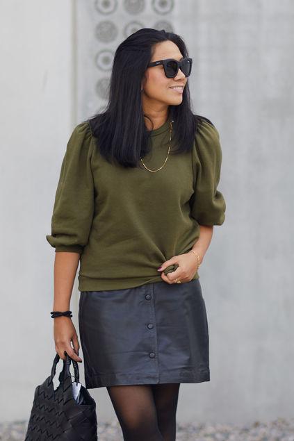 Nankita Sweatshirt Olivengrønn