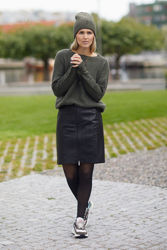Femme Mohair O Pullover Olivengrønn
