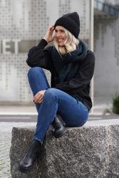 Paulina SWAN Ankle Jeansblå