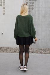 Hairy Knit Cardigan Grønn