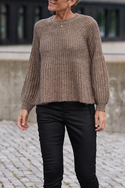 Fenya a-shaped Knit Brun
