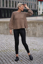 Fenya a-shaped Knit Brun