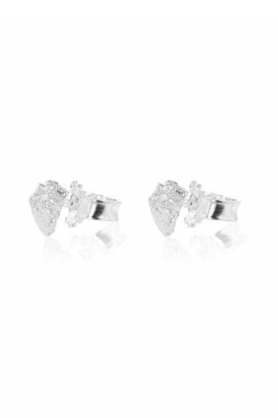 Grit Erosion Mini Earrings Sølv