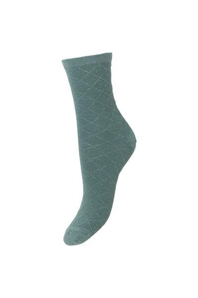 Square Dalea Sock Granite green