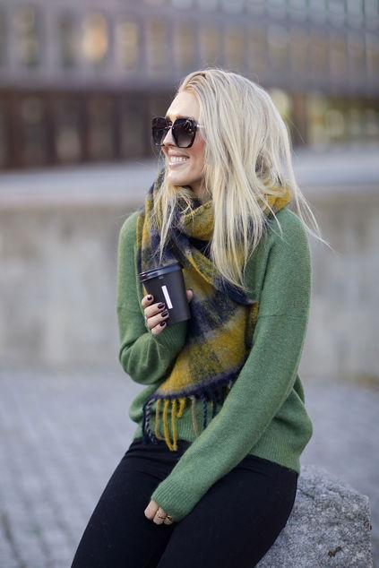 Femme Mohair O Pullover Lysegrønn