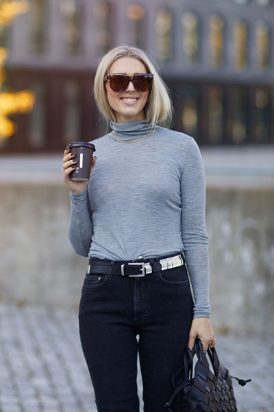 Wilma rollneck Lysegrå