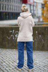 Lulu LS Knit Hoodie Lys beige