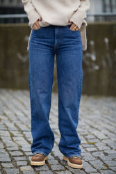 Brown Straight Jeans Bright Orlando Jeansblå
