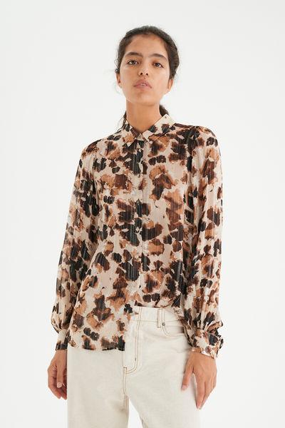 Gertie shirt Brunt print
