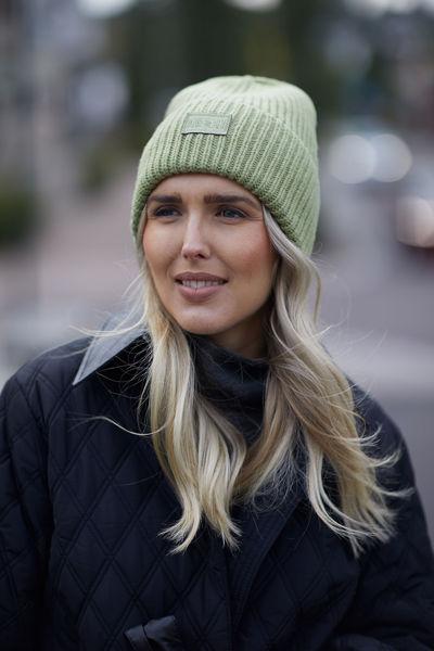 Kara Badge Beanie Lysegrønn