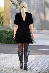 Charlisse velour dress Sort