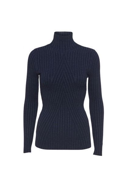 Chelsea LS Knit Top Marineblå