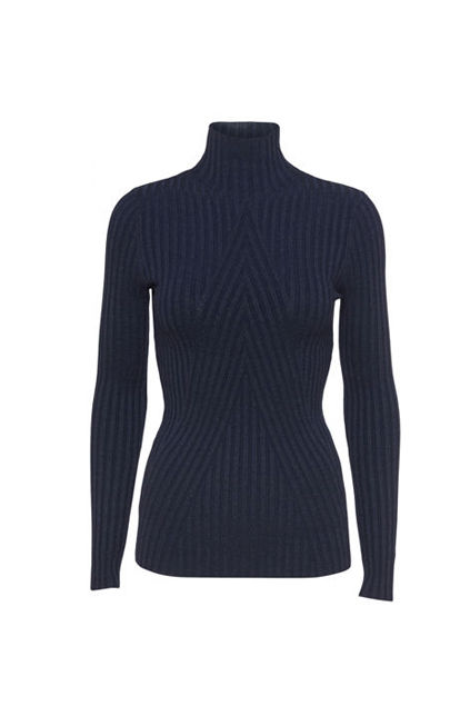 Chelsea LS Knit Top Marineblå