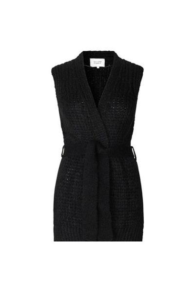 Sonia knit waistcoat Sort