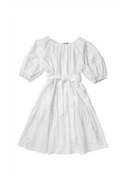 Midi short sleeve dress Hvit