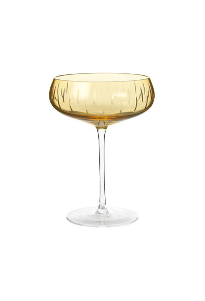 Champagne Coupe Amber