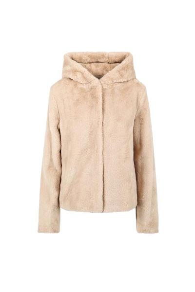 Charlie Hood Fake Fur Jacket Beige