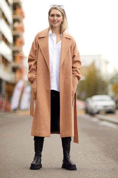 Anneline Wool Coat Kamel
