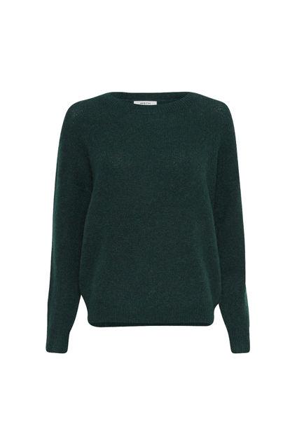 Femme Mohair O Pullover Mørkegrønn