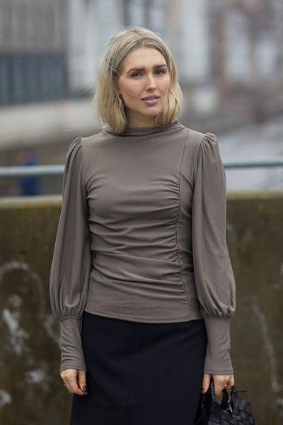 Rifa puff blouse Brun