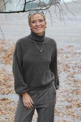 Debbie rollneck Brun melert